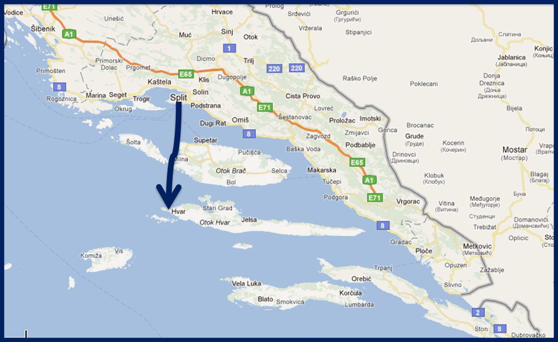 carte croatie ile de hvar » Carte du monde Carte du monde